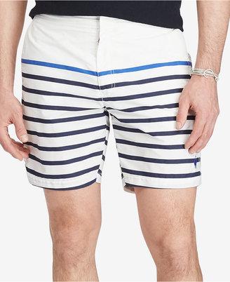 "Polo Ralph Lauren Men's 7"" Monaco Striped Swim Trunks $85 thestylecure.com"