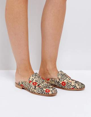 Free People Brocade Loafer With Embroidery And Sequin Detail