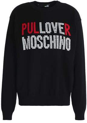 Love Moschino Intarsia Cotton Sweater