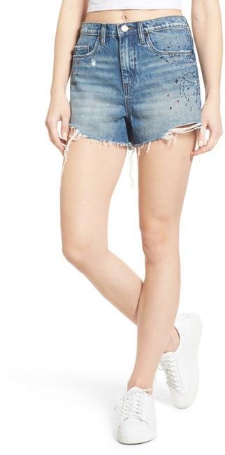 BLANKNYC Denim Ms. Throwback Cutoff Denim Shorts