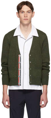 Thom Browne Green Relaxed-Fit Cardigan
