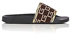 Gucci Men's Pursuit Knit Slide Sandals - Med. brown, Gold