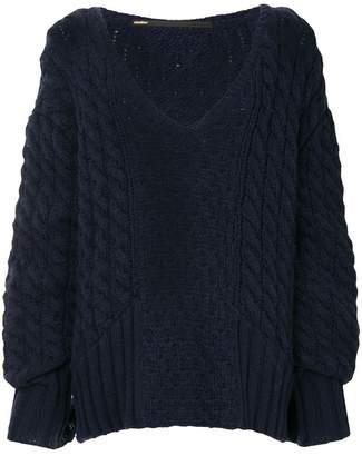 Muller of Yoshio Kubo Muller Of Yoshiokubo cable-knit oversized sweater