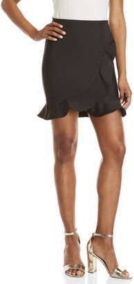 Wow Couture Wrapped Ruffle Mini Skirt