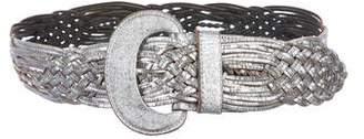 Linea Pelle Metallic Leather Belt