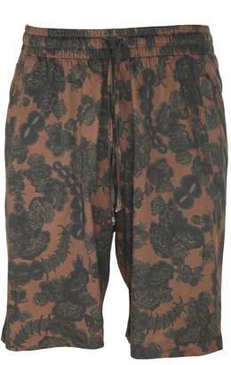 Dries Van Noten Floral Print Bermuda Shorts