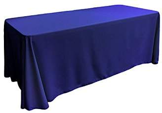 "Gee Di Moda Rectangle Tablecloth - 90 x 132"" Inch - Royal Blue Rectangular Table Cloth for 6 Foot Table in Washable Polyester - Great for Buffet Table"