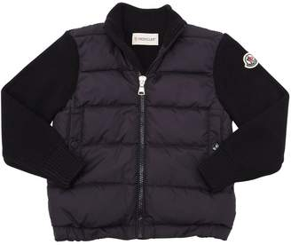 Moncler Nylon & Wool Knit Jacket