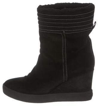 Aquatalia Suede Wedge Boots
