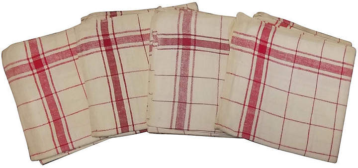 French Red Stripe Towels