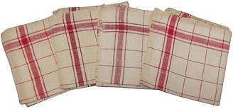One Kings Lane Vintage French Red Stripe Towels - Set of 4