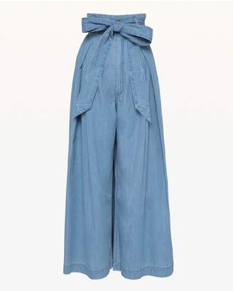 Juicy Couture Cotton Chambray Crop Pant
