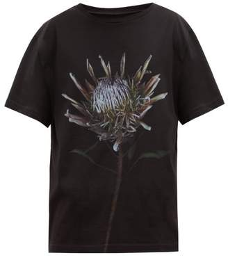 Maison Margiela Thistle Print Cotton T Shirt - Mens - Black