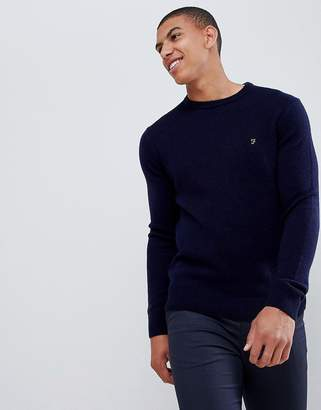 Farah Rosecroft crew neck sweater in true navy
