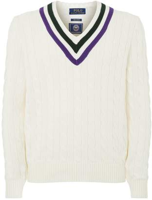 Polo Ralph Lauren Wimbledon Cable Knit Sweater