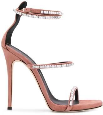 Giuseppe Zanotti gemstone heeled sandals