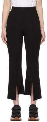 Stella McCartney Black Compact Knit Slashed Trousers