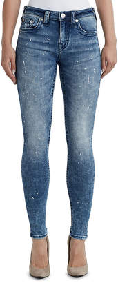 True Religion WOMENS PAINT SPLATTER CURVY SKINNY JEAN
