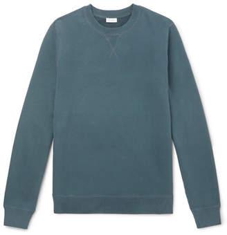 Sunspel Loopback Cotton-Jersey Sweatshirt - Men - Petrol