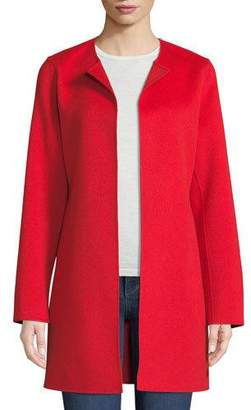 Neiman Marcus Luxury Double-Faced Cashmere Topper