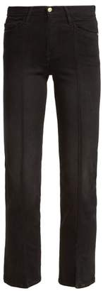 Frame Le Nouveau Straight Leg Cropped Jeans - Womens - Black