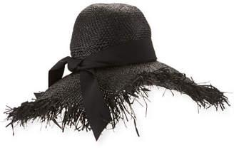 ete Gigi Burris Raffia Sun Hat, Black