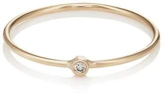 Jennifer Meyer Womens Diamond-Accented Hammered Ring 5kmNS