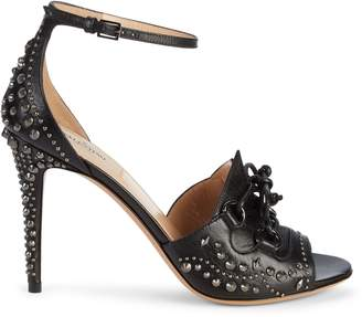 Valentino Studded Lace-Up Detail Leather Sandals
