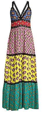 Alice + Olivia Women's Carla Kranendonk X Karolina Paneled High-Low Dress - Size 0