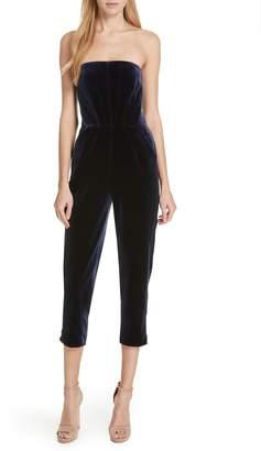 Nicholas Velvet Strapless Jumpsuit