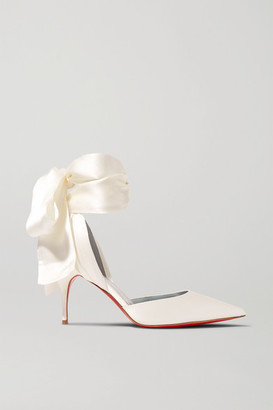 Christian Louboutin Toubinana 80 Satin Pumps - White