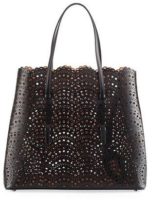 ALAIA Classic Laser-Cut Tote Bag $2,910 thestylecure.com