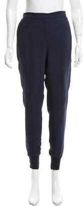 Stella McCartney Knit-Accented High-Rise Joggers