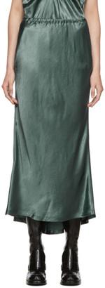 Sies Marjan Green Fluid Satin Bias Xael Midi Skirt