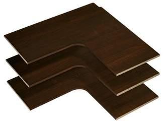 Easy Track Rs3003-T Corner Shelves - Truffle (3 Count)