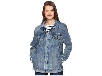 Lucky Brand Oversized Denim Trucker Jacket