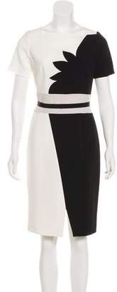 Paule Ka Knee-Length Colorblock Dress