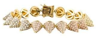 Eddie Borgo Pavé Multicolor Crystal Cone Bracelet
