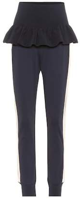 Ganni Presbourg high-waisted track pants