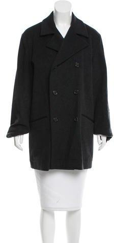 pradaPrada Virgin Wool Double-Breasted Coat