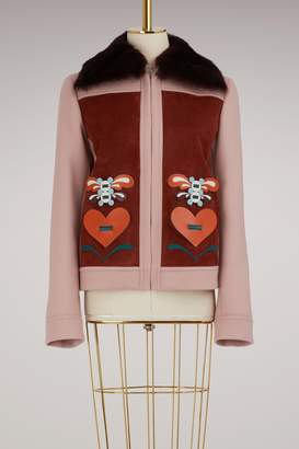 Anya Hindmarch Wool short 70s jacket
