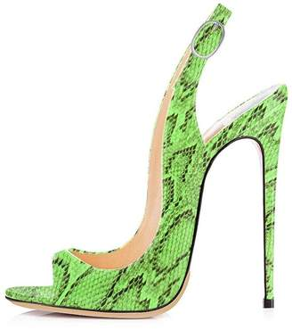 UMEXI Open Toe Slingbacks Ankle Strap High Heels Stiletto Pumps Wedding  Party Shoes for Women Size 757b925cf0f3