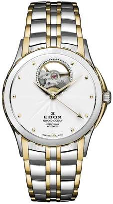 Edox Watches Women's Grand Ocean Open Heart Swiss Automatic Bracelet Watch