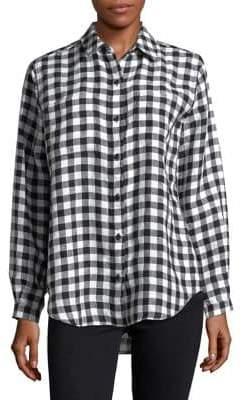 Lord & Taylor Plaid Linen Shirt