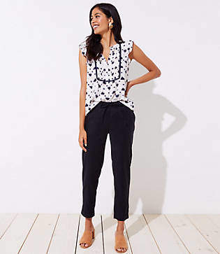 LOFT Petite Slim Drawstring Pants