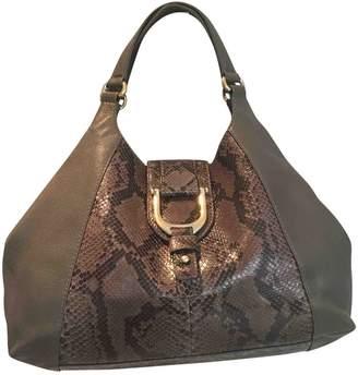 Gucci Vintage Hobo Grey Leather Handbag