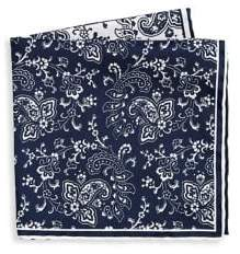 Saks Fifth Avenue COLLECTION Two Tone Paisley Pocket Square