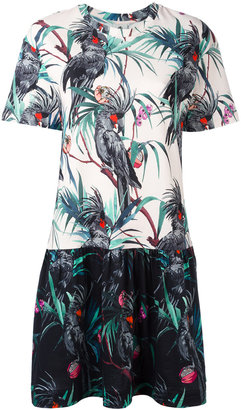 Ps By Paul Smith macaw print flared dress $295 thestylecure.com