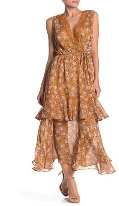 MelloDay Floral Print Tiered Maxi Dress