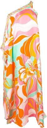 Emilio Pucci Rivera Print Single Shoulder Evening Dress